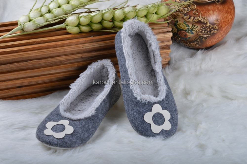 cheap fashion felt indoor outdoor dancing shoes slipper