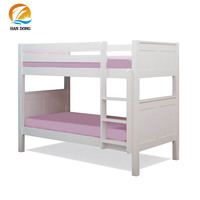 Solid pine wood bed double-decker bunk bed for children and teenagers