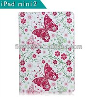 FL319 hot selling Flowers series stand wallet leather case for ipad air