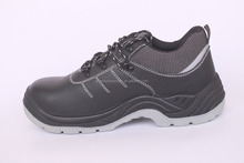 genuine leather,S3 steel toe and steel plate,low cut safety shoes