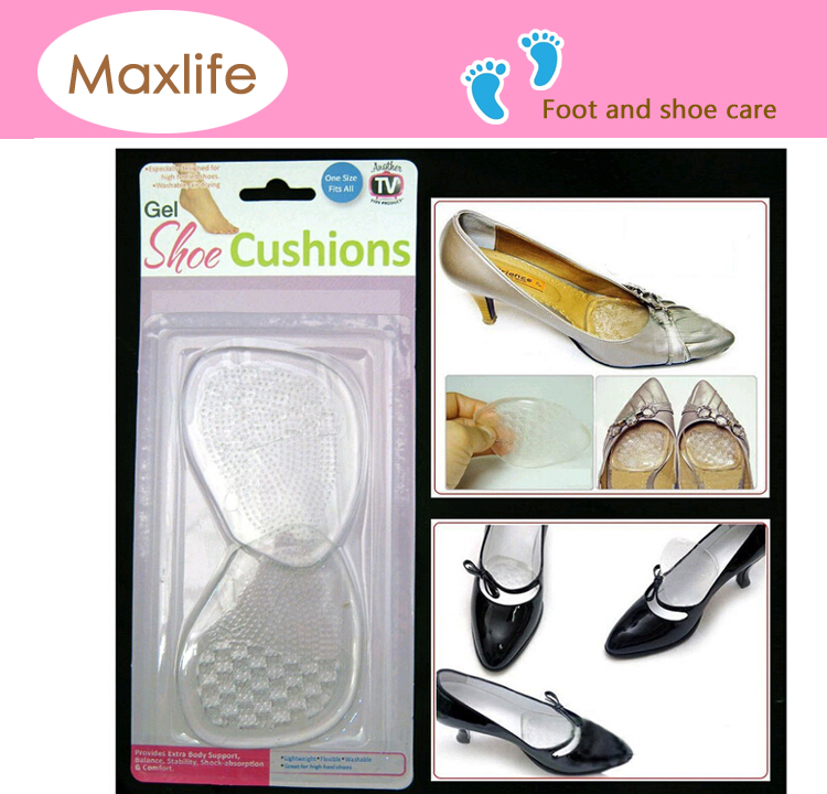 Gel Silicone Shoe Cushions High Heel Insoles Antislip Shoes Pad Foot Care New