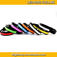 100pcs Adjustable LED Dog Collar Glow Flashing Light Up Pet Necklace Nylon Luminous Safety Collar Size S M L Drop ship DC-2501