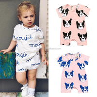 Wholesale summer baby clothing 0-3 years old short sleeve cute design baby jumpsuit