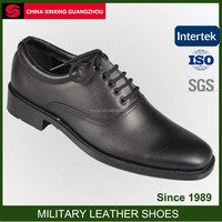 African Military Black Army Full Grain Leather Shoes Dress Suit Shoes Officer Shoes