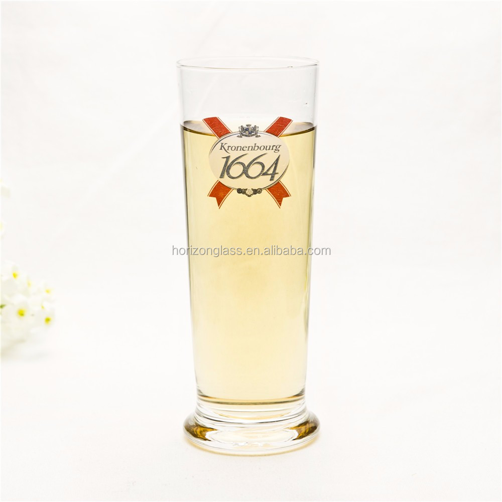 19OZ thin beer glass with customized decal