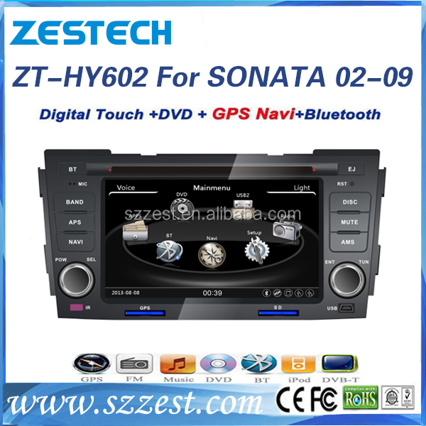 ZESTECH Factory OEM CE certification and 6.2 inch HD touch screen car dvd player for Hyundai NF/Sonata 2002-2009