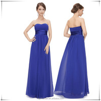 2016 Summer Women Strapless Ruched Bust Sexy Long Free Prom Dress
