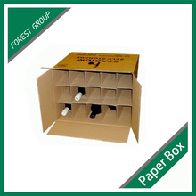 Custom deisgin durable strong cardboard carton beer bottle box with dividers
