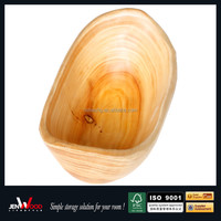 2016 novelty design low MOQ thicken eco friendly solid wood kitchen dinnerware bowls