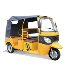 Chinese new model 7 seats rickshaw 175cc motor 3 wheels motorcycles with roof motorised tricycle for passenger