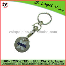 personalized trolley tokens/ token keyring/ trolley coin