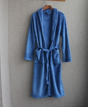 china factory cheap Men's Microfiber Fleece Bathrobe