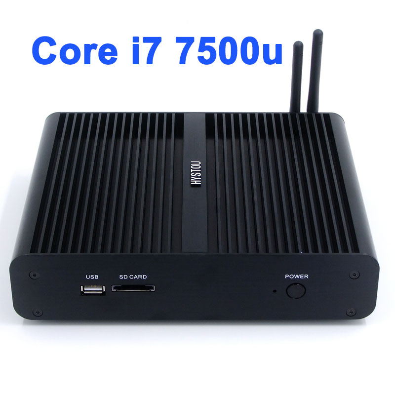 Hot sale fanless desktop gaming computer i7 mini pc gamer intel core i7 7500u can be customized