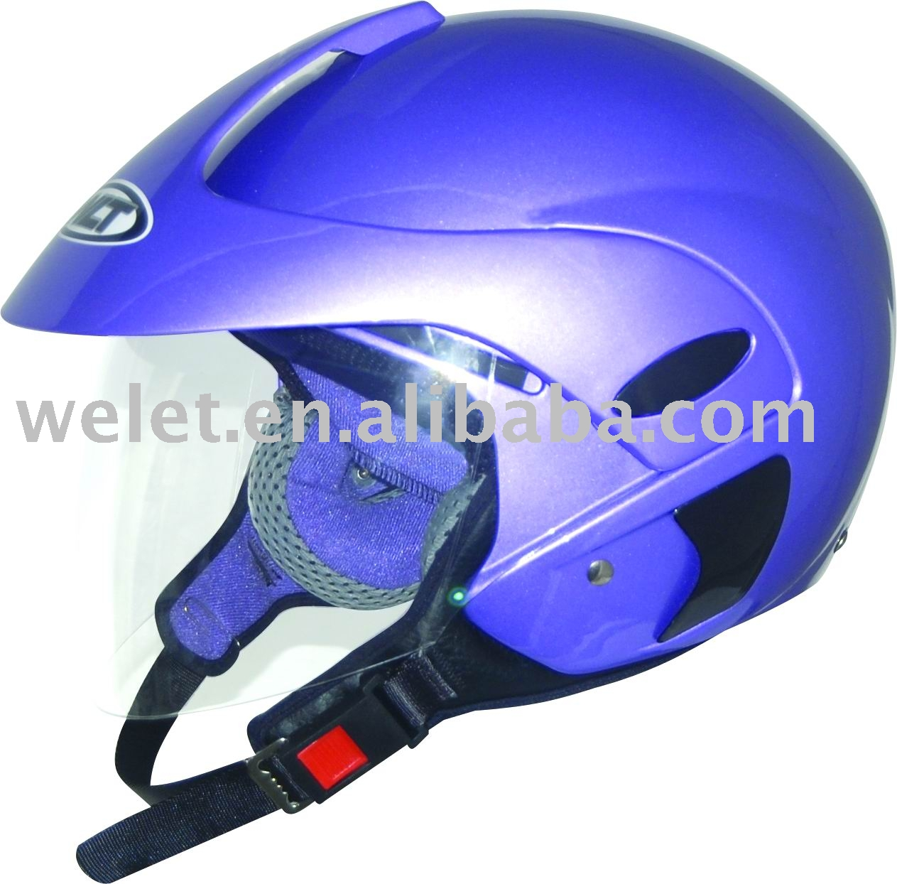 Half face helmet motorcycle open face helmet purple motorcycle helmet