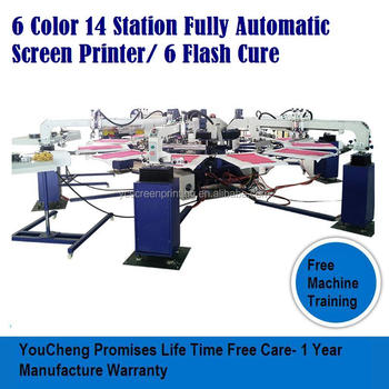 Rotary silk screen printing machine for all Types Ink