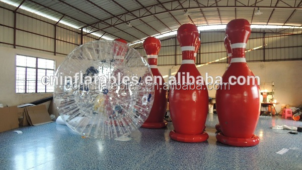 Inflatable human bowling game outdoor sports game zorb bowling ball