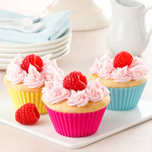Hot Selling Popular Colorful BPA Free silicone teacup cupcake molds