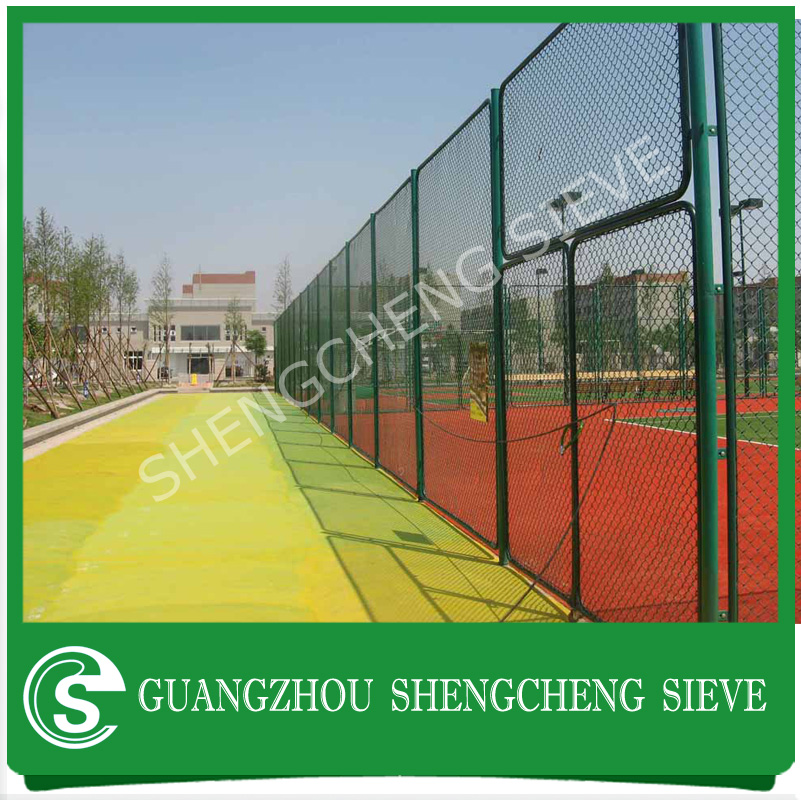 Hot dipped galvanized and PVC coated yard used chain link fence / playground fence