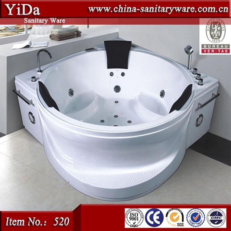 moderne massage 3 personne baignoire grande baignoire d. Black Bedroom Furniture Sets. Home Design Ideas