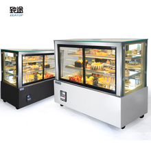 Right-angled Glass Vertical Bakery Display Case/display refrigerator with Front Sliding Door