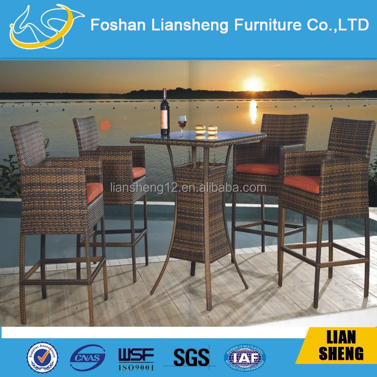Modern cheap used bar stools wholesale outdoor rattan high bar stools