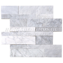 HF-7 White Marble Multi-size Interior and Exterior Wall Stone Mosaic Tile Panel