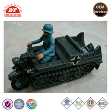 ICTI toy factory custom German Military car toy motorcycle track