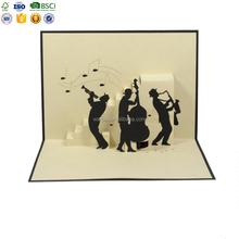 Wholesale Paper Laser Cut 3D Pop Up Card Birthday Tree Greeting Cards