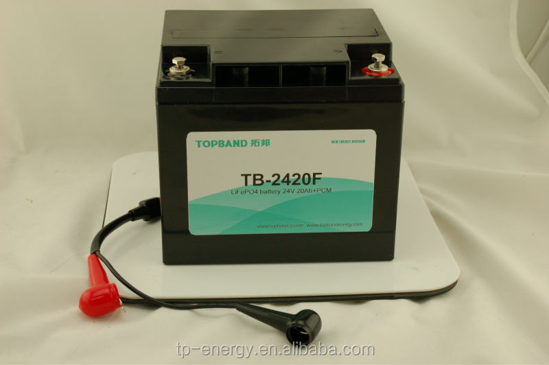 24V 20Ah UPS lithium rechargeable battery pack