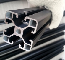 6060 t6 aluminium profile manufacturer / OEM aluminium extrusion black anodized / aluminium extruded h and u channel