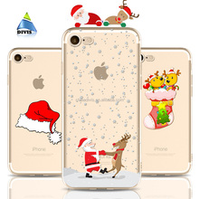 For iphone X Christmas Phone Case Soft Thin TPU Rubber Silicone Mobile Back Cover Bumper with Gift Retail Pacakge
