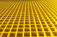fiberglass yellow floor panels for our car wash