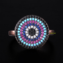 SAR7167 Simple 18KG Ring Jewelry Designs, Colorful Stone SS925 Ring