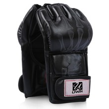 Artificial Leather martial arts MMA black Boxing Gloves for Sale