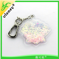 Glitter keycchian for gift / Many color shape keychain for wholessale / Lower price good quality for hot seliing