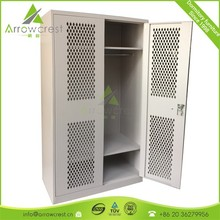 Heavy duty powder coated steel military uniform storage lockers cabinet for sale