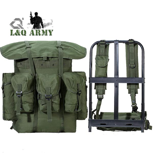 60L Military Alice Bag Army Waterproof Bag with Aluminum Frame