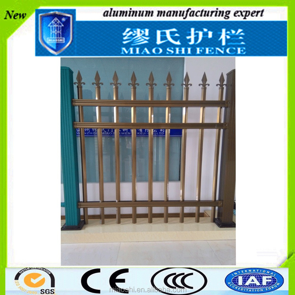 High security lightweight metal aluminum decorative flower garden fencing