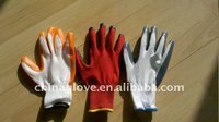 China white polyster coated with nitrile glove