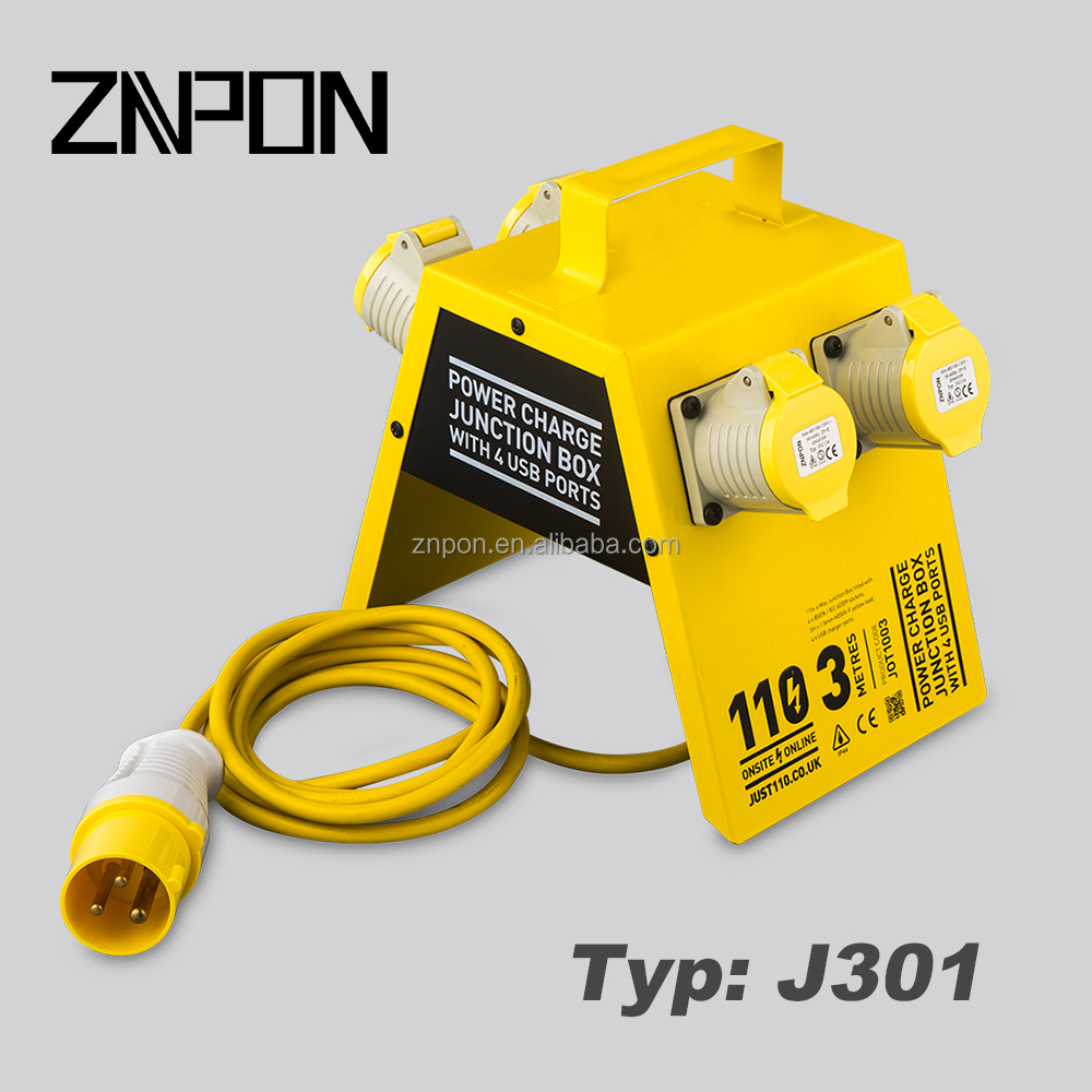 ZNPON 16A 110V 2P+E CEE Extension Cord J301