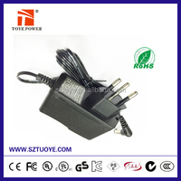14v 500ma dc power jack plug adapter for swiss market