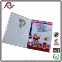 A5 size Xmas folded 3D greeting cards with sound