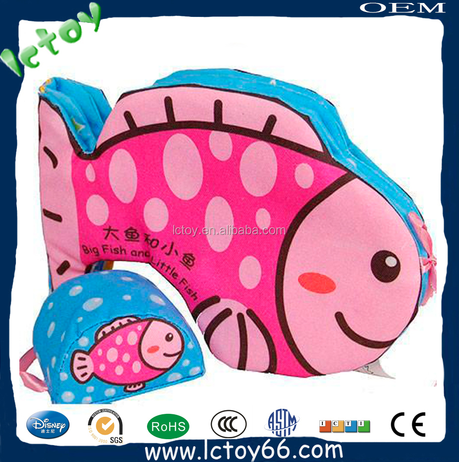 wholesale educational toy fish plush cloth book