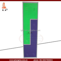 L shape lockers high density storage for personnal effects using changing Room steel painted french armoire wardrobe for gym