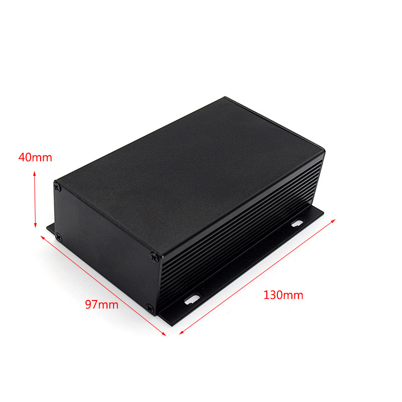 anodized and silk-screen printing aluminum amplifier enclosure