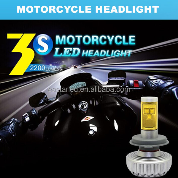 H4 best new dual beam motorcycle led light