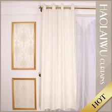 Hot sale elegant modern 100% polyester one way vision white jacquard curtains
