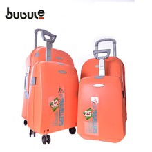 2018 BUBULE brands 100% PP travel trolley luggage bags suitcase carry on luggage set 4 size available travel case carbon