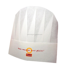 Customized size and design non-woven fabrics chef hat chef cap for kitchen and restaurant YM-51