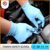 Nitrile disposable hand gloves / cheap nitrile gloves / disposable long nitrile gloves